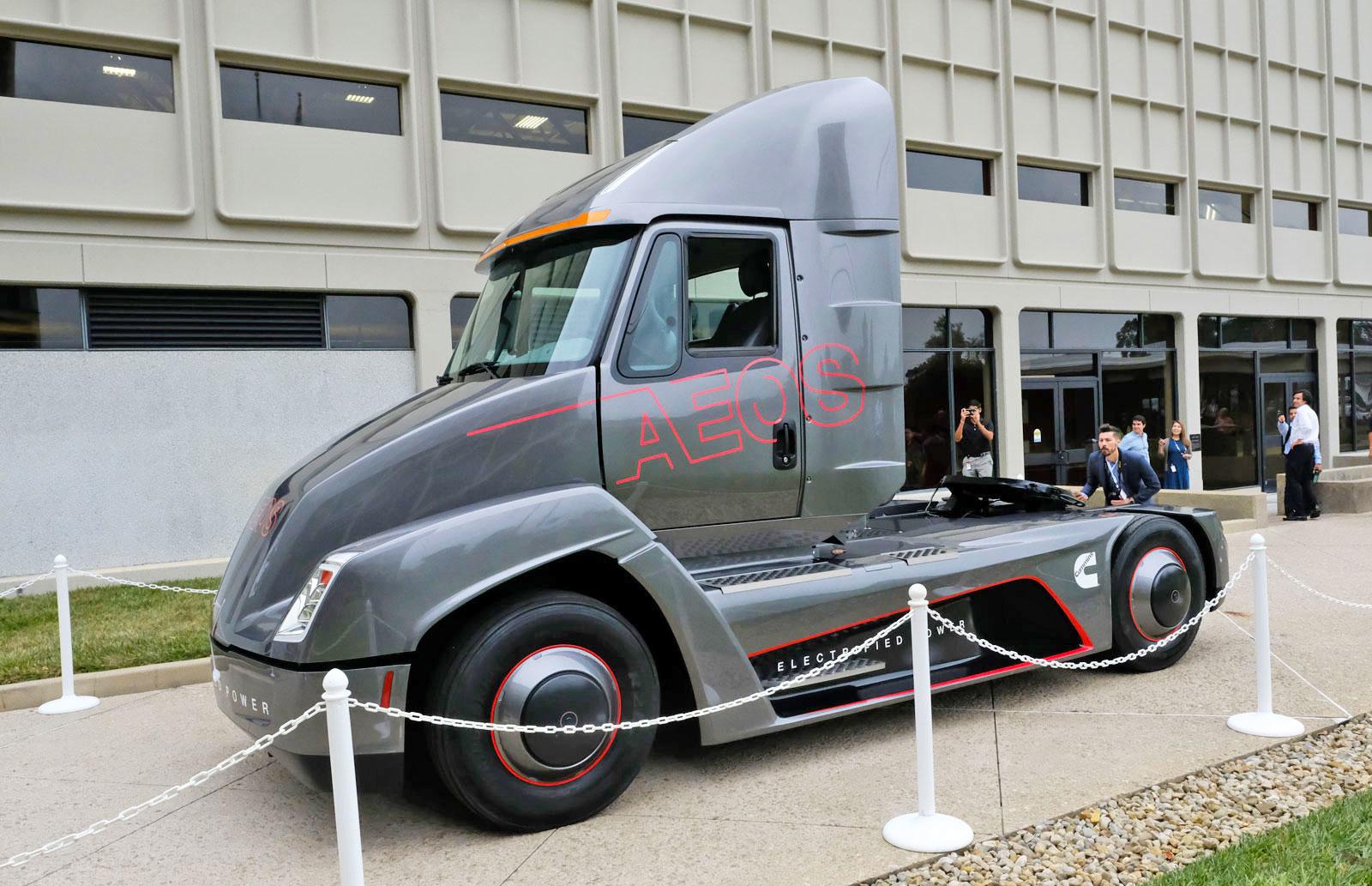 cummins electric semi truck electric vehicles aeos