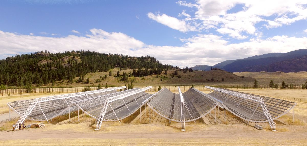Chime Radio Telescope. Image Credit: University of British Columbia