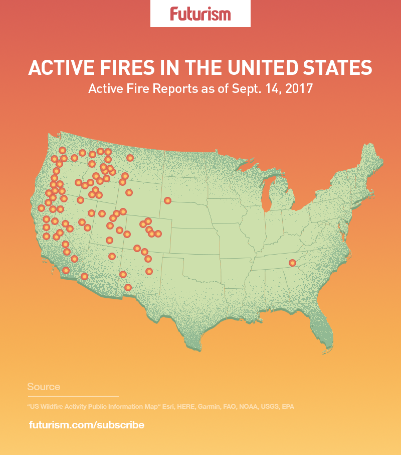 This Could Be The Wests Worst Fire Season Ever - Us-wildfire-activity-map