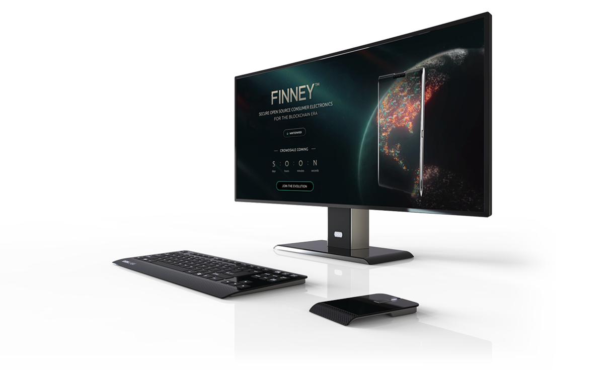 blockchain cryptocurrency finney smartphone