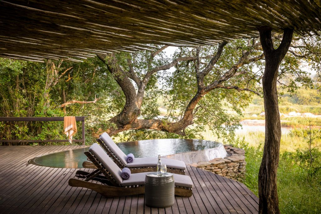 Singita Boulders Lodge Swimming Pool Area. Image Credit: Singita