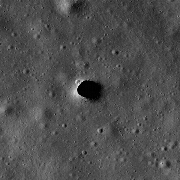 Marius Hills Skylight. Image Credit: NASA/Arizona State University