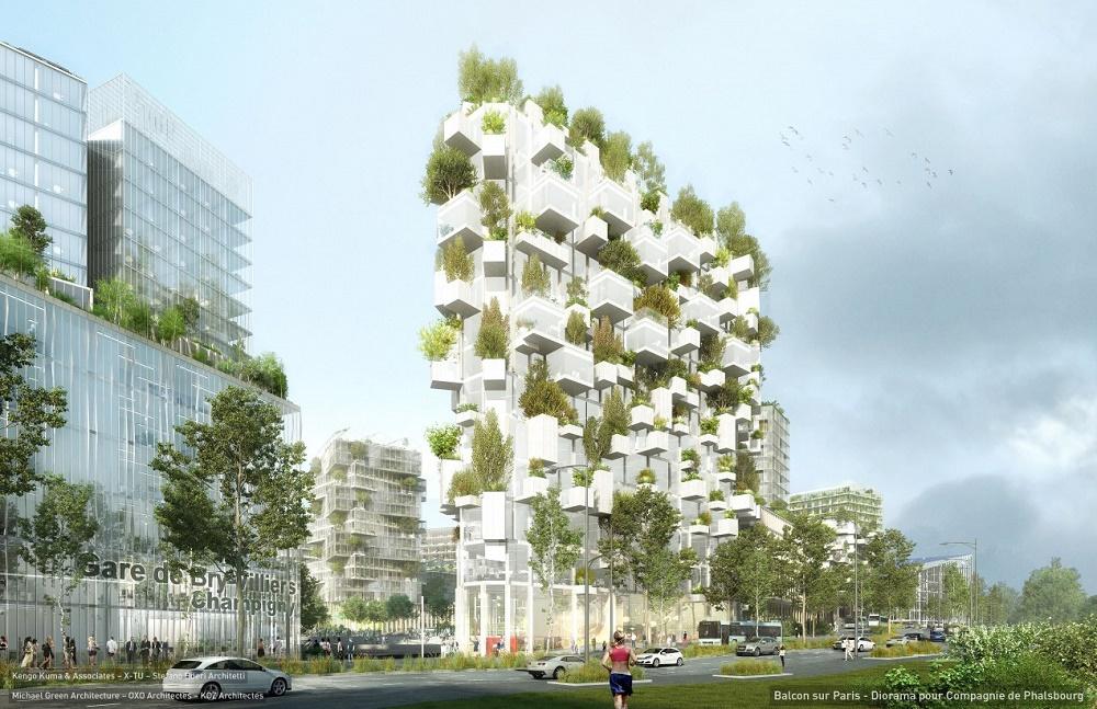 Concept image of Stefano Boeri Architetti's Forêt Blanche/White Forest. Image Credit: Stefano Boeri Architetti