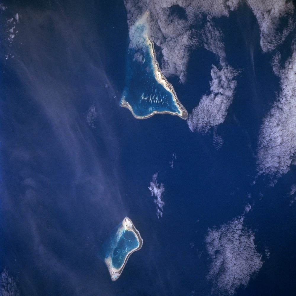 The islands of Tarawa and Maiana in the Republic of Kiribati, a country that may see many applications for New Zealand's new climate change refugee visas.