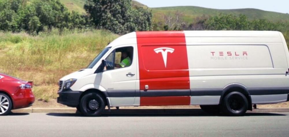 A shot of Tesla's Mobile Service Van. Image Credit: Tesla