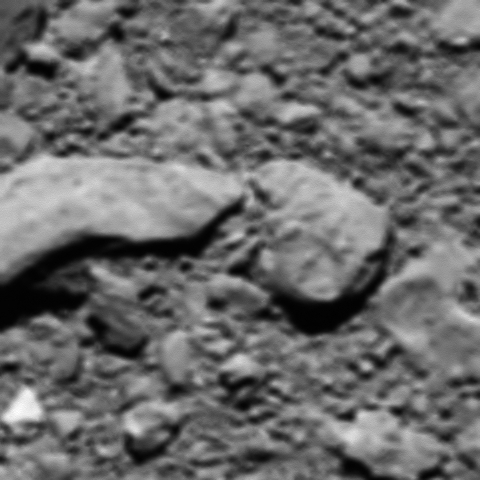 Rosetta's final image from its visit to a comet.