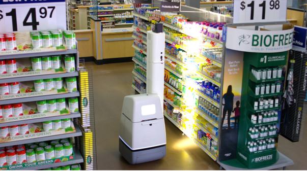 One of the self-scanning Walmart robots. Image Credit: Walmart