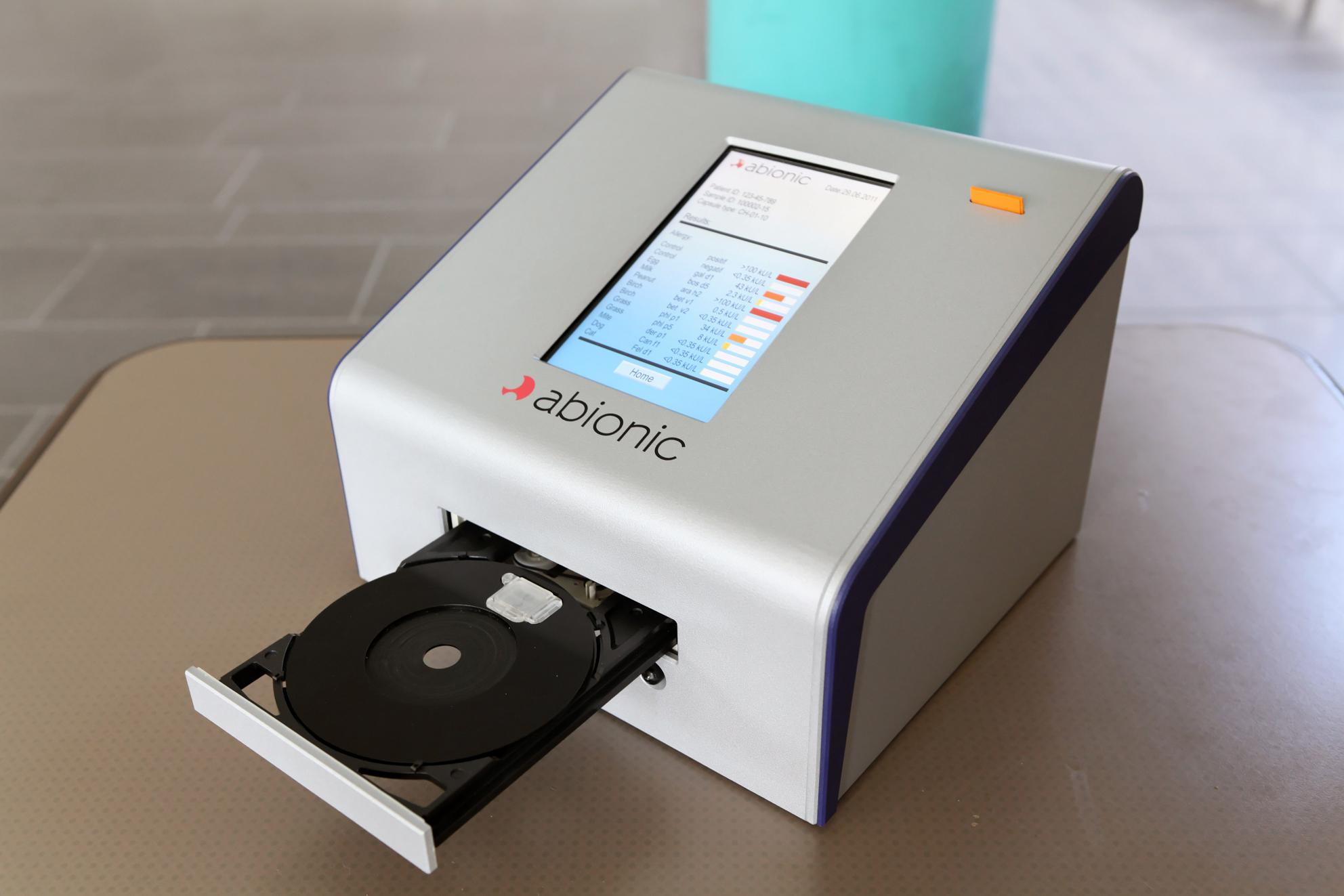 Abionic's new FDA-approved method allows faster allergy diagnosis, identifying 4 common allergies in just one drop of blood.