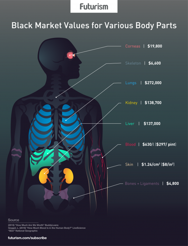 Legalizing Black Market Organs Could Save Lives Futurism