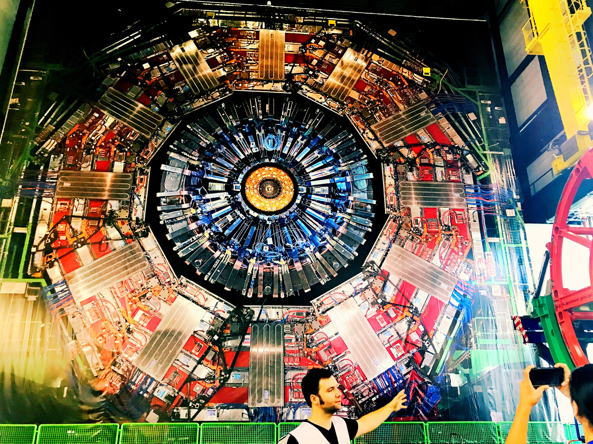 Physics is studied here at CERN: CMS.