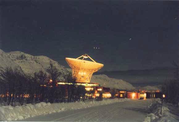 EISCAT's Tromsø radio dish, which sent three interstellar messages in October.