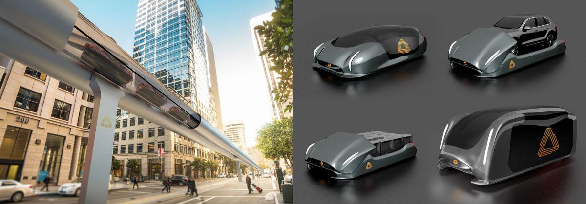 Concept image of Arrivo's transportation system. Image Credit: Arrivo