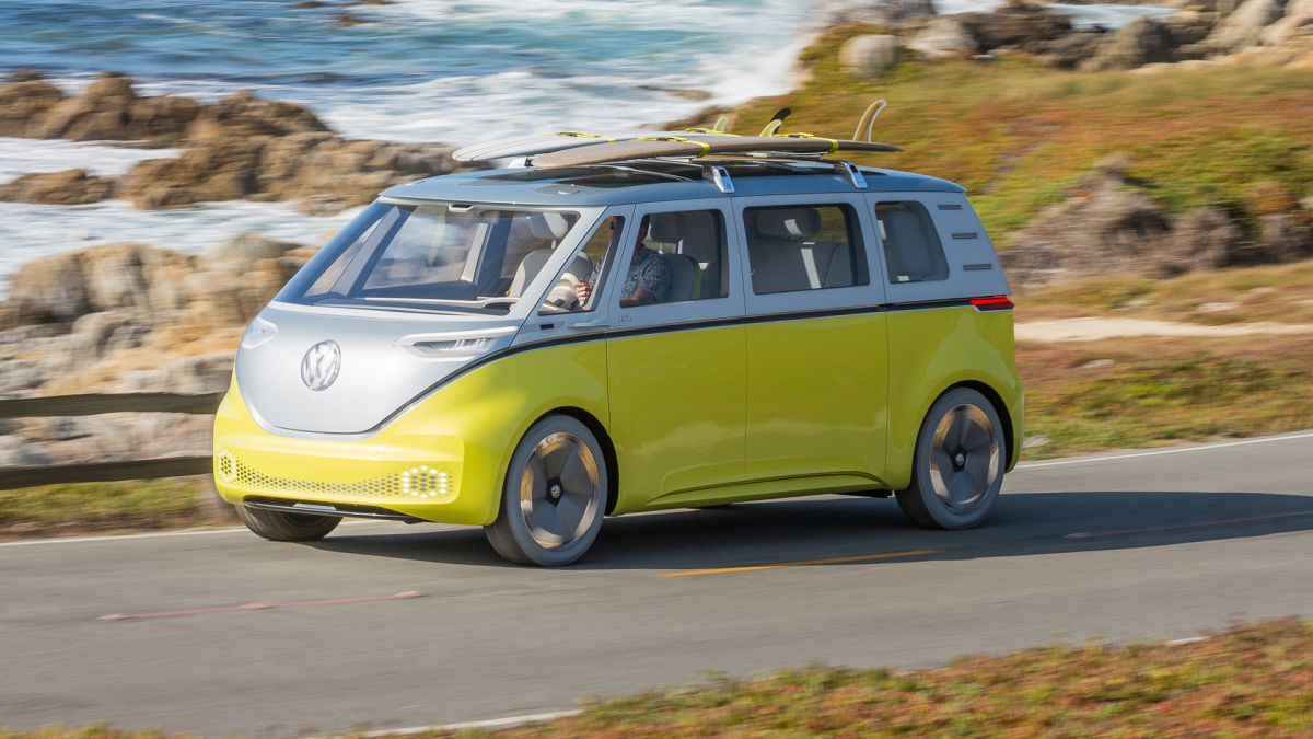 The ID BUZZ, one of many electric models Volkswagen has announced. (Image Credit: Volkswagen)