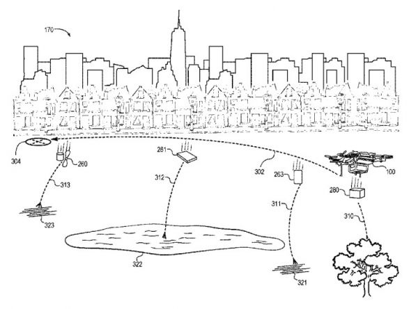 Drone by Amazon as depicted in the patent.