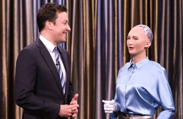 Robot Sophia is making strides in robot rights.