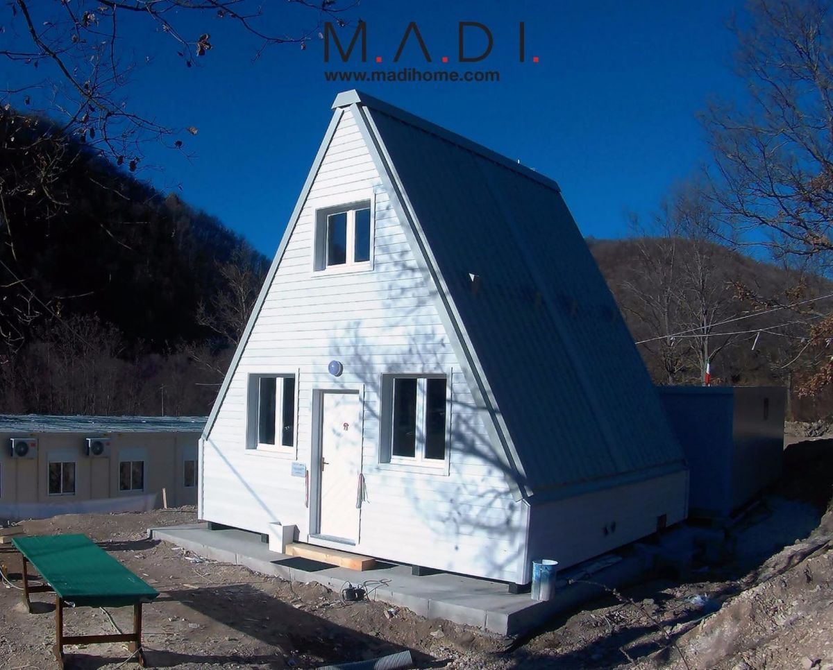 A M.A.Di home, a foldable earthquake-proof house that's easily and quickly built. Image Credit: M.A.Di