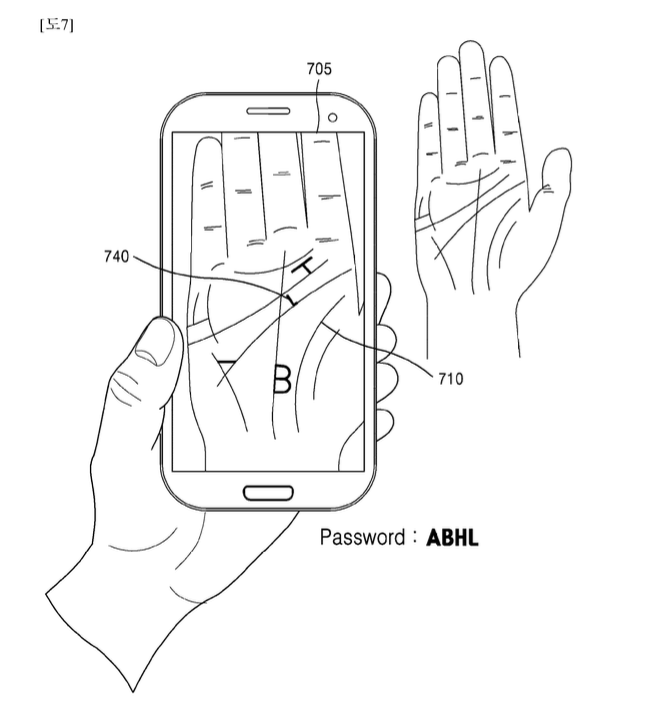 Samsung's palm recognition