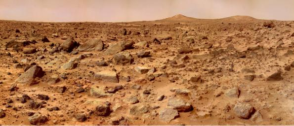 The rocks that scatter on this dusty terrain could be behind the disappearance of water on Mars. Image Credit: NASA