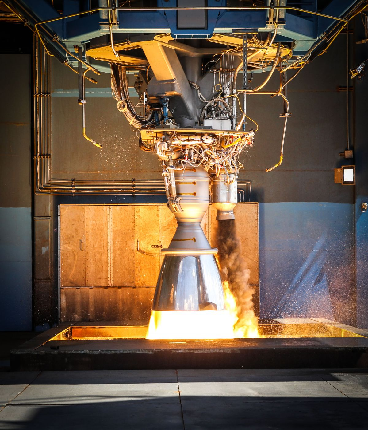 A working Merlin engine. Image credit: SpaceX