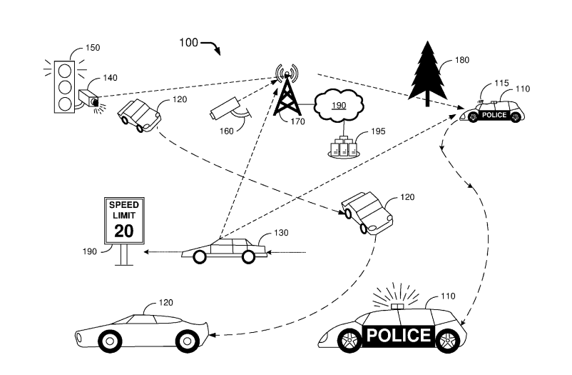 An illustration from the patent. Image Credit: Ford