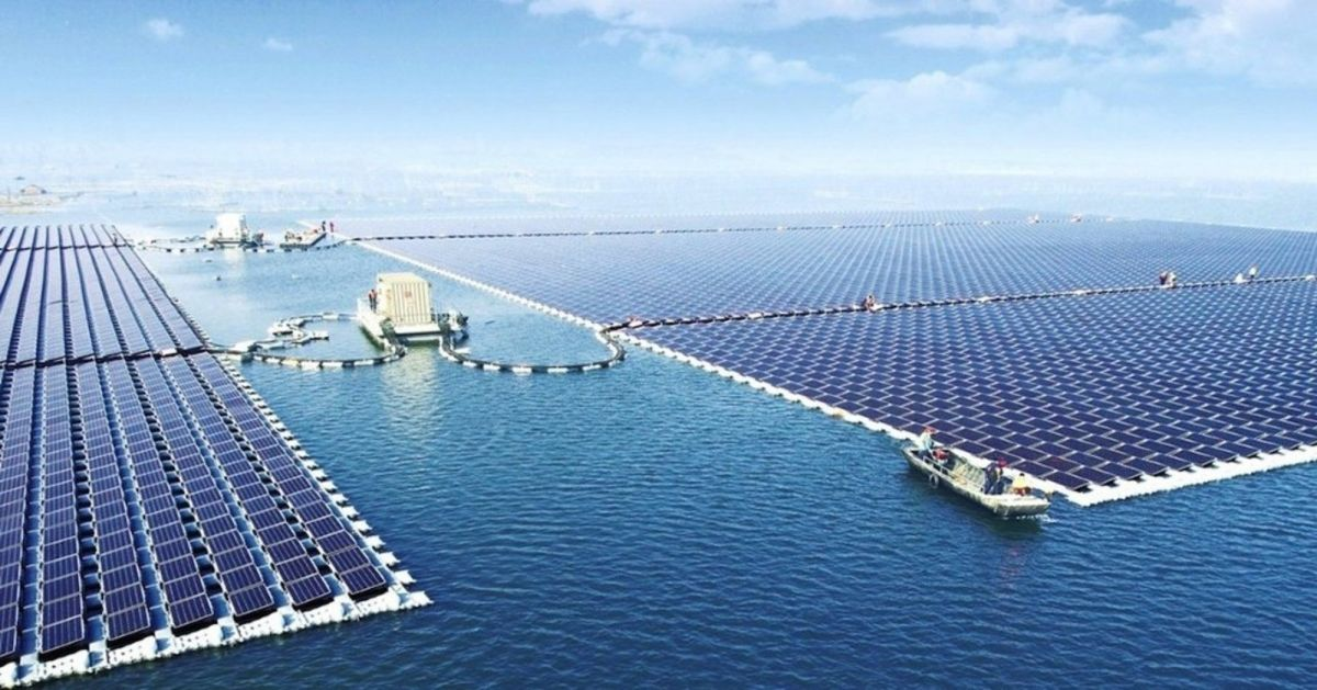 The largest floating solar farm in the world. Image Credit: Sungrow
