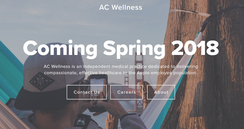 Homepage for Apple's AC Wellness. Image Credit: AC Wellness
