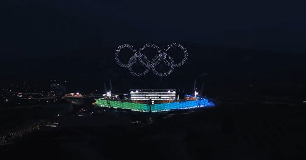 Intel S Drone Powered Opening Ceremony Show Broke A World