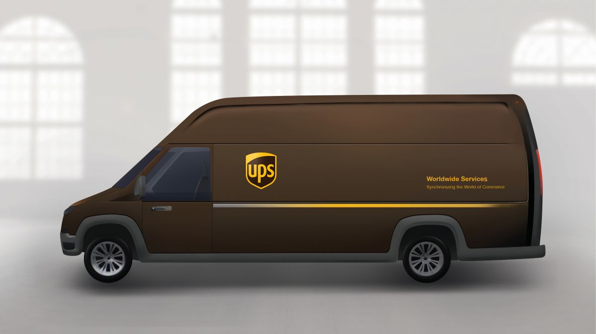 Artistic rendering of plug-in electric delivery truck. Image Credit: UPS