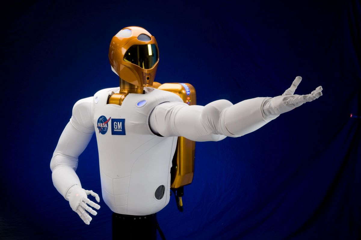 One day, we might be able to remotely control humanoid robots like NASA's Robonaut 2. Image Credit: NASA