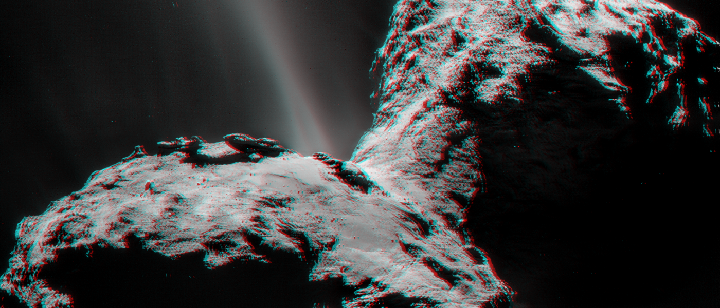 Watch this breathtaking, close-up clip of a distant comet's surface
