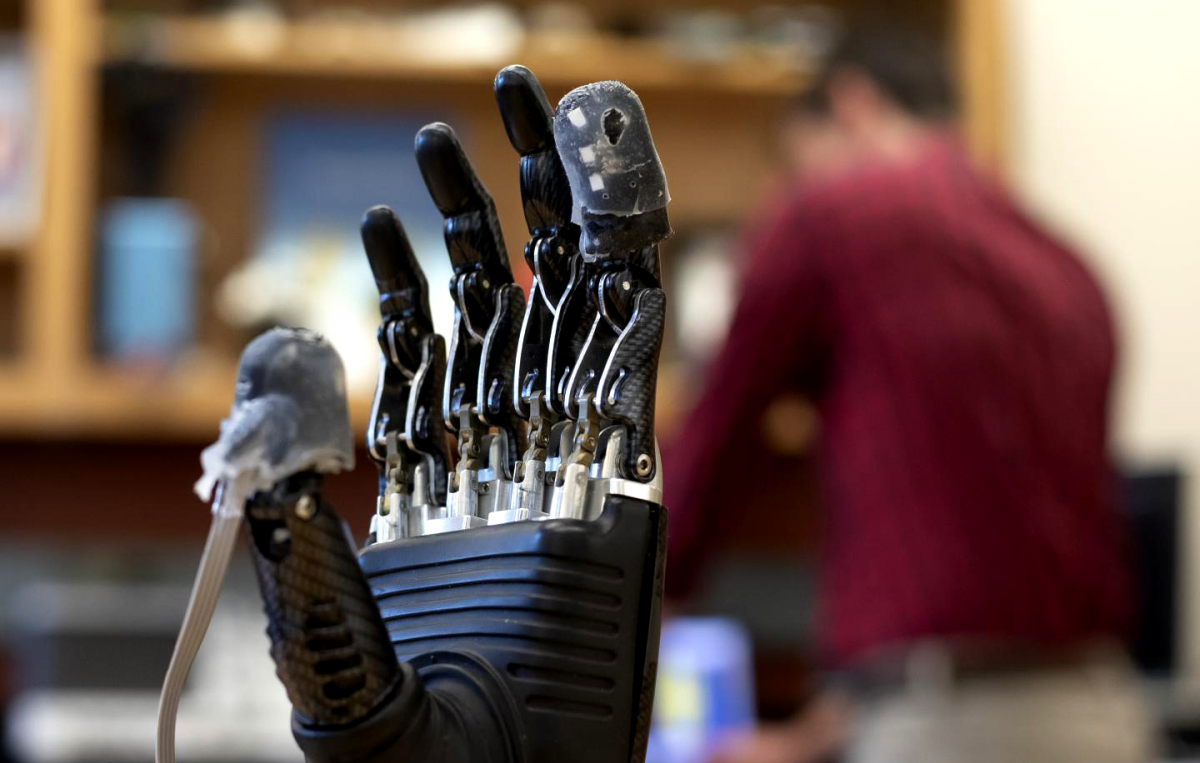 Electronic skin lets amputees feel pain through their prosthetics