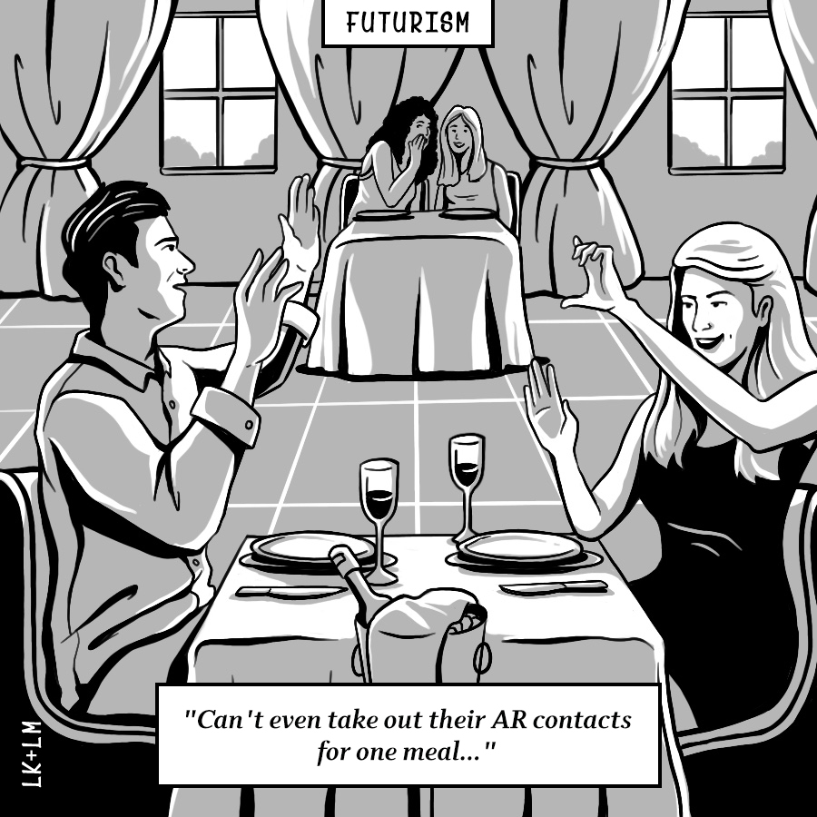 AR At Dinner Comic