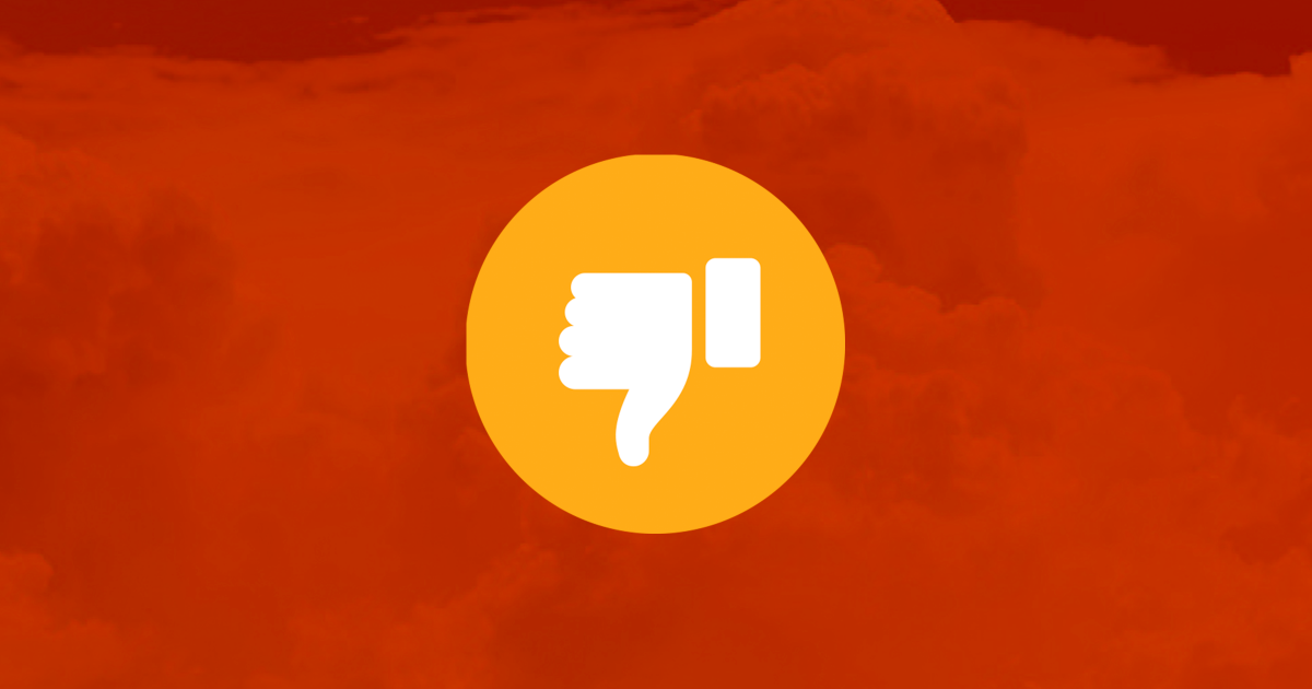 thumbs down facebook emoji