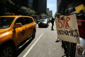 Taxi Drivers Rally In Favor Of Stricter Regulations For Part Time Car Service Drivers
