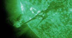 For the first time, astronomers have discovered a coronal mass ejection (CME), a spewing of plasma and energy, from a star that's not the Earth's Sun.