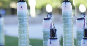 MIT researchers have created Fiberbots, autonomous robots that can weave fiberglass into tall tubes that we could one day use for construction projects.