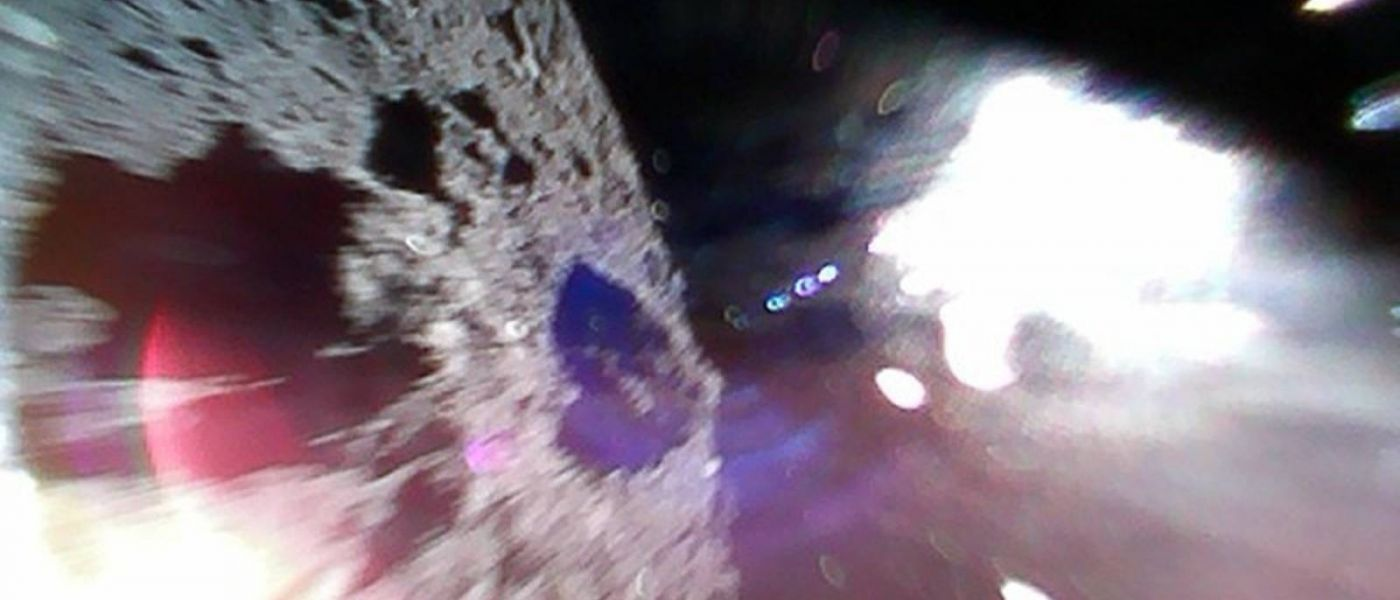 Here are the first photos japan's robot landers sent back from an asteroid