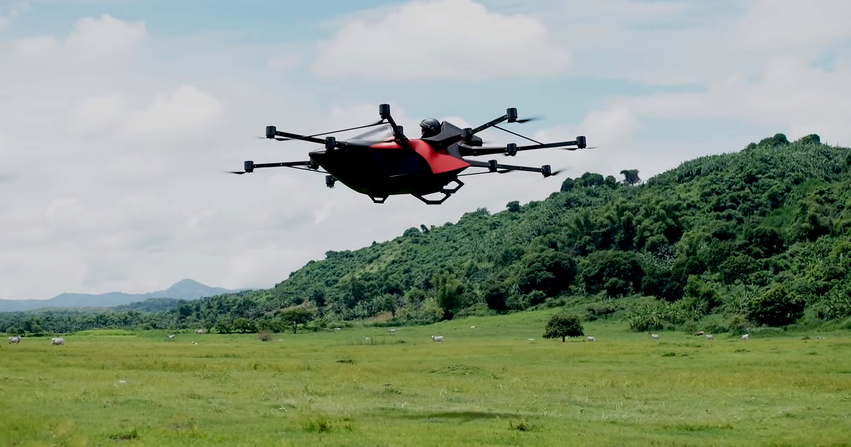 This Flying Sports Car Is Like A Giant Drone You Can Ride In