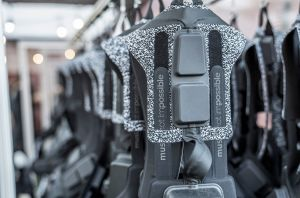 A high-tech suit vibrates to let users feel music — a new way for everyone to experience sound, according to its creators, but especially for deaf people.