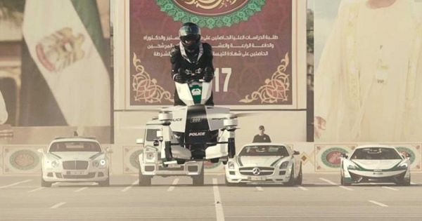 Dubai police are training officers to fly hoverbikes