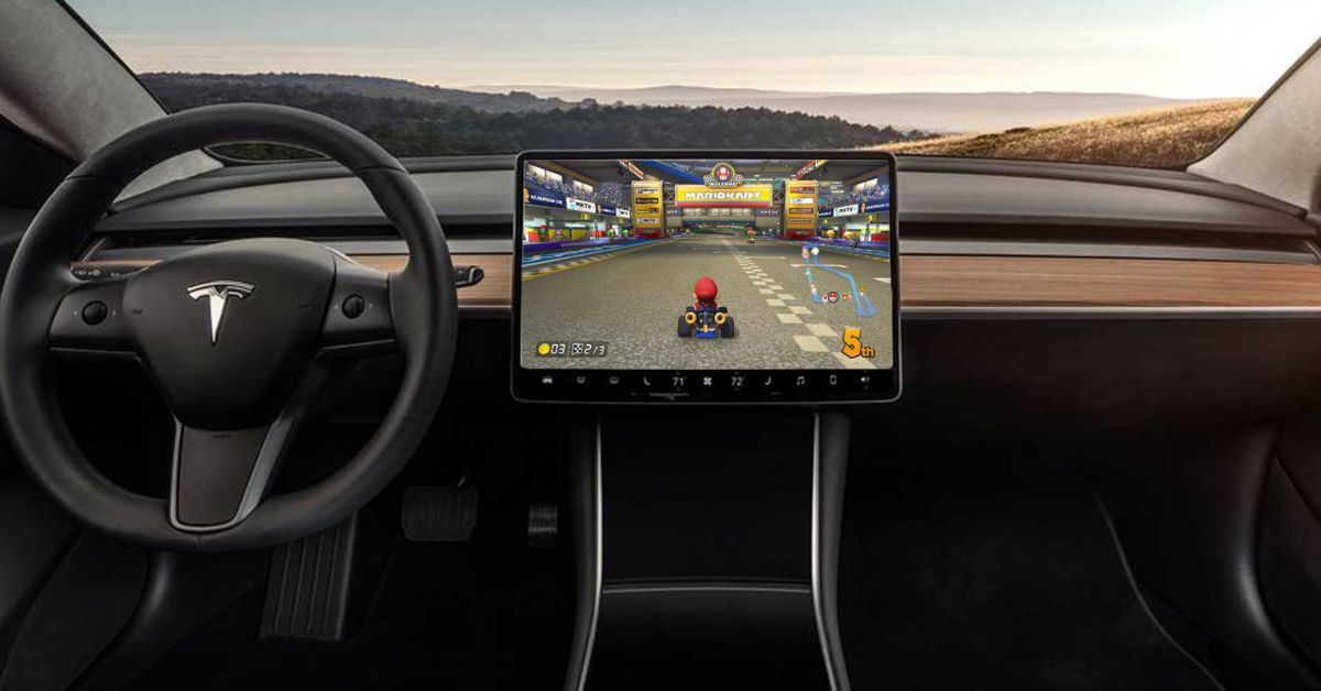 Elon Musk Tried To Bring  U201cmario Kart U201d To Your Tesla Model 3