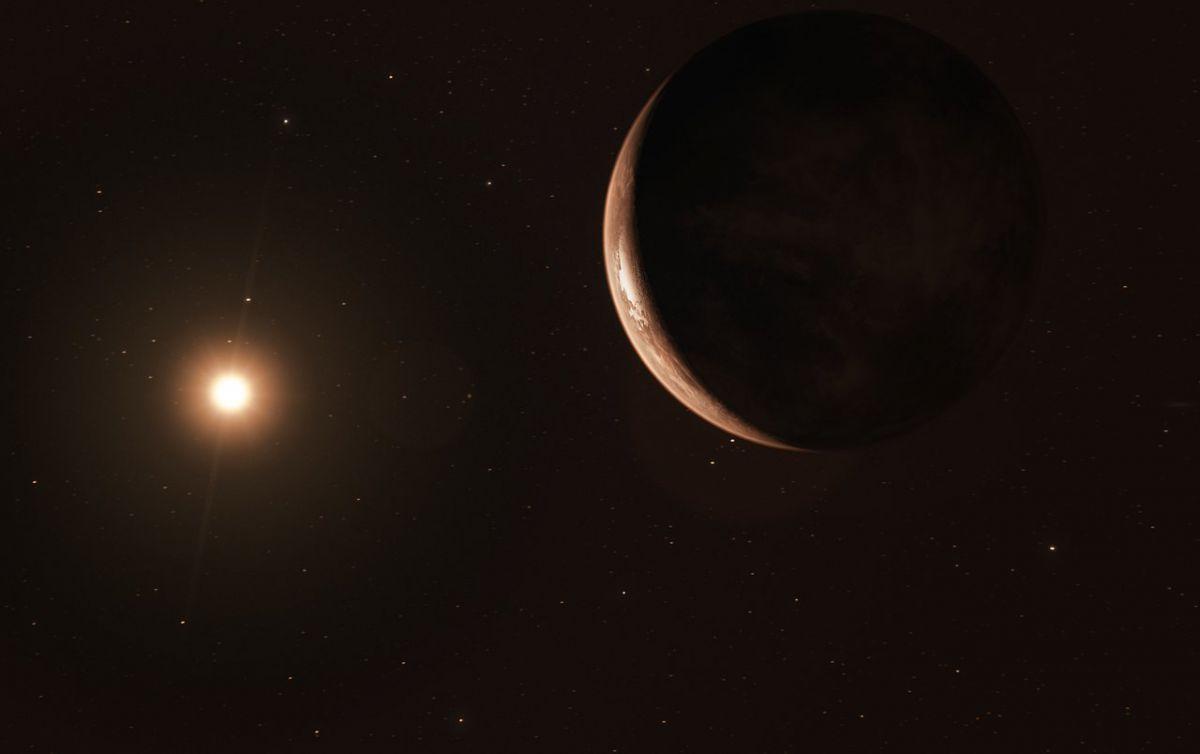 Artist's impression of super-Earth orbiting Barnard's Star