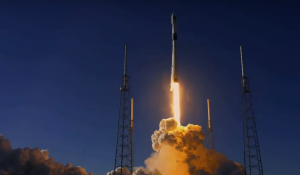 SpaceX launch - SpaceX Falcon 9 rocket lifts off carrying a GPS 3 satellite