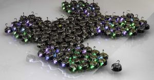 A new swarm of robots inspired by biological cells can communicate with each other to autonomously create new structures and shapes.