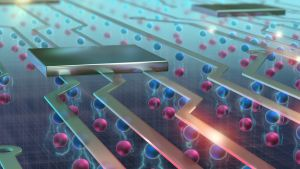An artist's depiction of what Excitons look like in advanced electronics