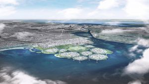 Authorities in Denmark plan to build nine artificial islands off the coast of Copenhagen — a futuristic hub for sustainable business and commerce.