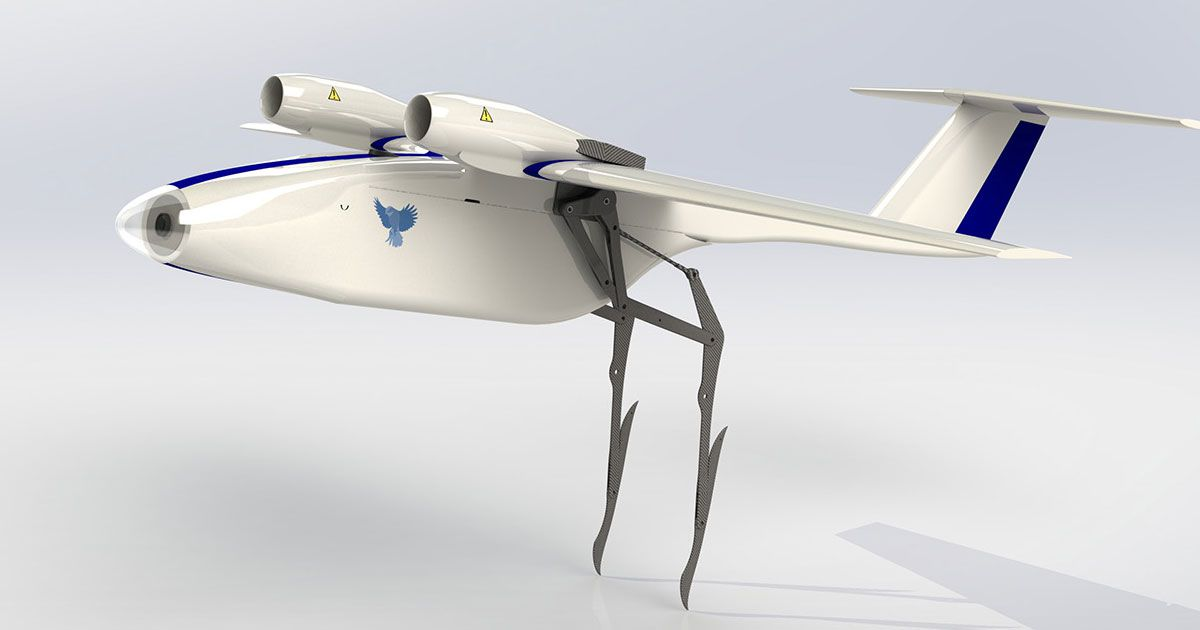 This drone takes off by leaping with bird-inspired legs