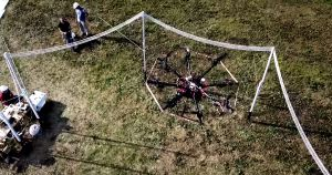 Wireless tech company Global Energy Transmission (GET) has created a new drone charging system that can power the crafts while they are mid-flight.