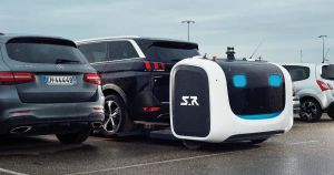 A UK airport is planning a three-month trial of robot valets that increase the number of available spaces by parking cars more closely together.