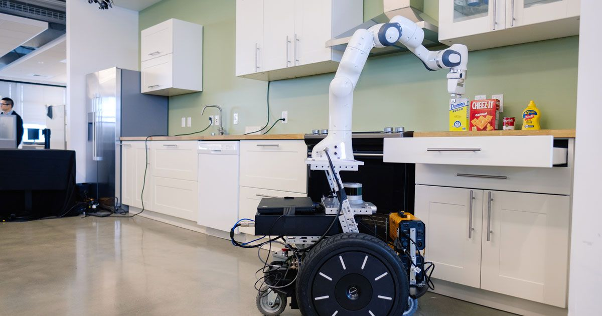 kitchen .  A Robot Is Learning To Cook And Clean In An Ikea Kitchen